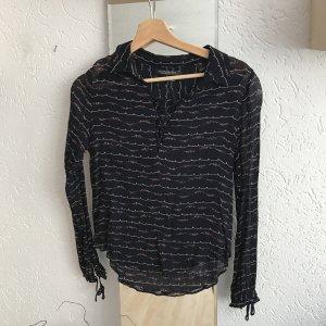 Halbtransparente Bluse mit Schnürung von Maison Scotch