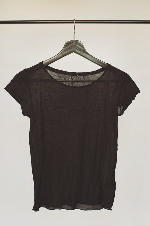 Halbtransparentes Grunge T-Shirt in schwarz