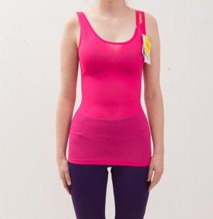 halbtransparentes Reebok Sporttop Top PlayDry / Shapewear Lux in neonpink, neu, mit Etikett. XS