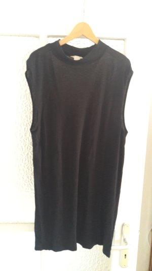 Halbtransparentes Shirtkleid mit Stehkragen