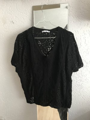 Mango Gehaakt shirt zwart