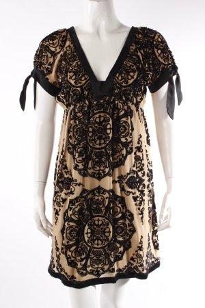Hale Bob Cocktail Dress with Velvet Details