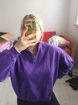 Halfzip lila Pullover