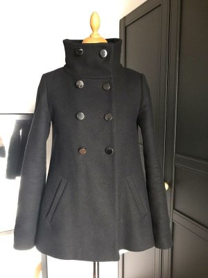 Hallhuber Heavy Pea Coat black