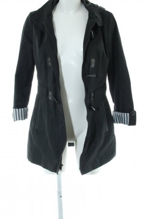 Halifax Capuchon jas zwart casual uitstraling
