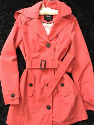 Trench Coat neon orange polyester