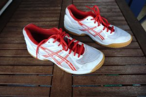 Asics Shoes red-white mixture fibre