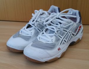 Asics Sneakers white-silver-colored mixture fibre