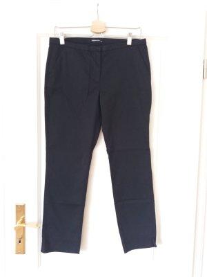 Hallhuber 3/4 Length Trousers black mixture fibre