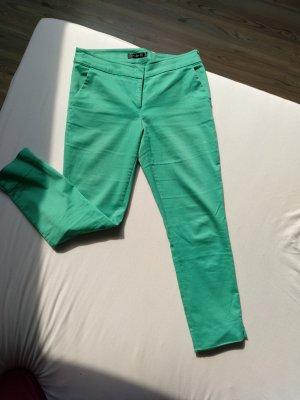 Hallhuber Pantalon 3/4 vert menthe coton