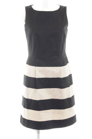 Hallhuber A-Linien Kleid schwarz-nude Streifenmuster Casual-Look
