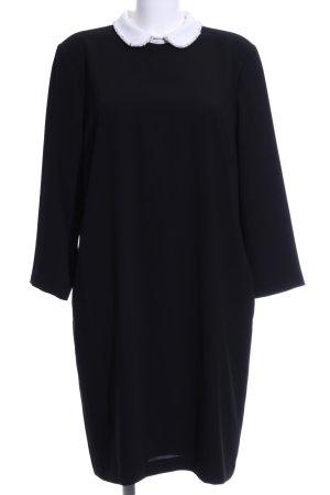 Hallhuber A-Linien Kleid schwarz-weiß Business-Look