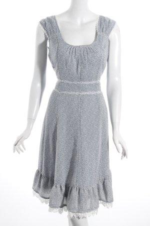Hallhuber A-Linien Kleid blassblau-weiß florales Muster Romantik-Look