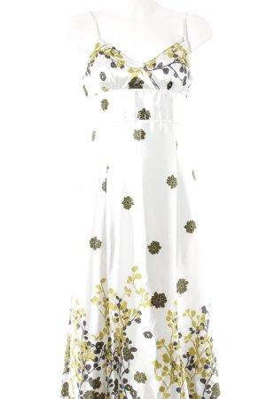 Hallhuber A-Linien Kleid Blumenmuster Schimmer-Optik