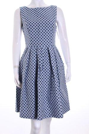 Hallhuber A-Linien Kleid himmelblau-dunkelblau Punktemuster Elegant
