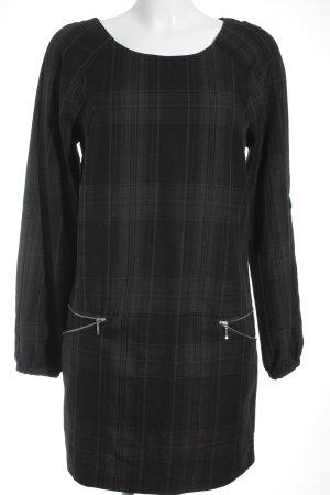 Hallhuber A-Linien Kleid Karomuster Business-Look