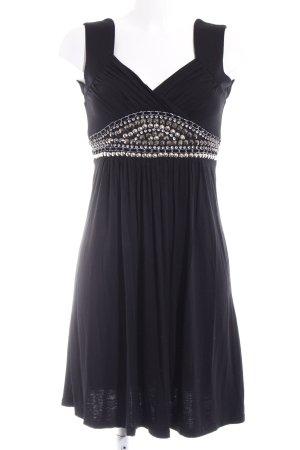 Hallhuber A-Linien Kleid schwarz Glanz-Optik