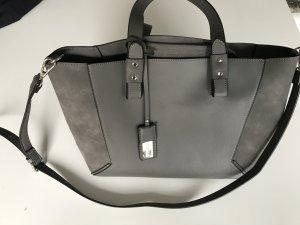 Hallhuber trend Borsa shopper grigio-argento