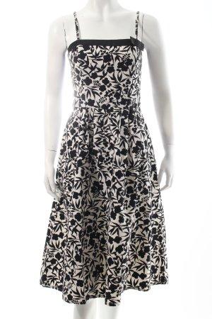 Hallhuber Abendkleid hellbeige-schwarz Blumenmuster Eleganz-Look