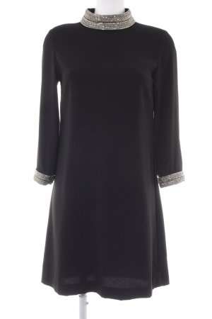 Hallhuber Abendkleid schwarz-silberfarben Elegant
