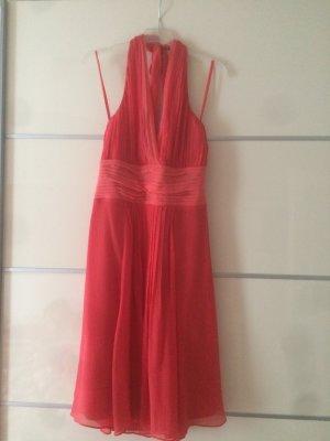 Hallhuber Abendkleid, Sommerkleid, Cocktailkleid, Seidenkleid in Coral Aprikose