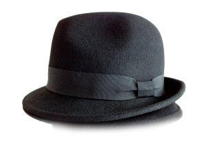 Hallhuber Sombrero de terciopelo negro