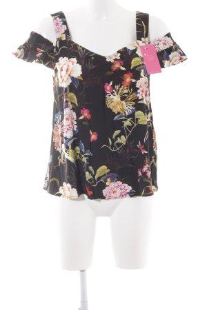 Hallhuber ärmellose Bluse Blumenmuster Casual-Look