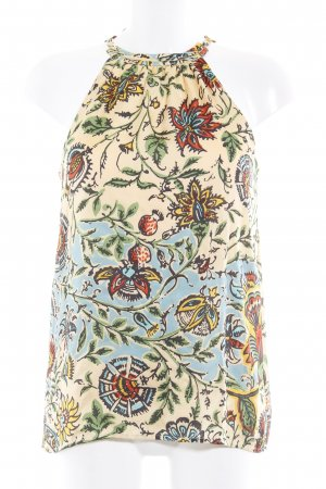 Hallhuber ärmellose Bluse florales Muster Elegant