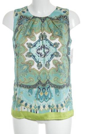 Hallhuber ärmellose Bluse florales Muster schlichter Stil