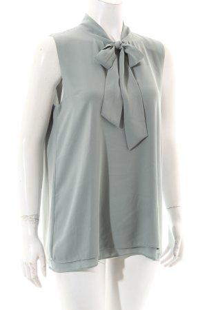 Hallhuber ärmellose Bluse graugrün Casual-Look