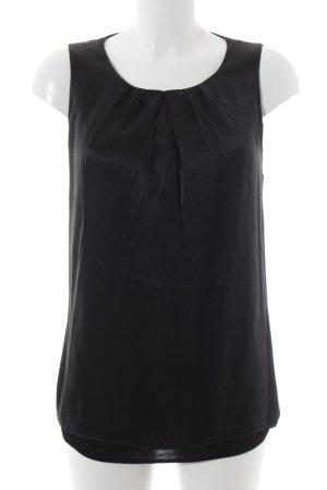 Hallhuber ärmellose Bluse schwarz Elegant