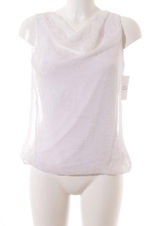 Hallhuber ärmellose Bluse weiß Elegant