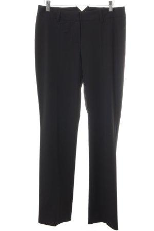 Hallhuber Pantalon de costume noir style d'affaires