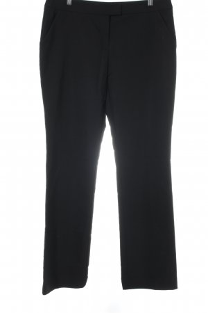 Hallhuber Pantalone da abito nero stile professionale