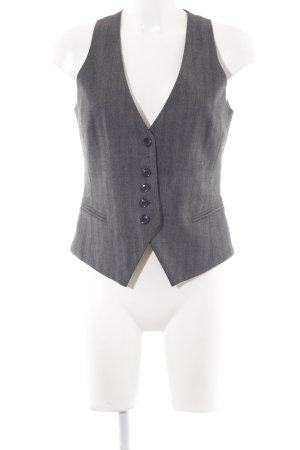 Hallhuber Waistcoat dark grey-dark red pinstripe business style