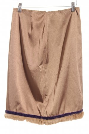 Hallhuber Asymmetry Skirt gold-colored casual look