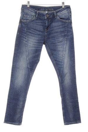 Hallhuber Jeans baggy bleu style décontracté