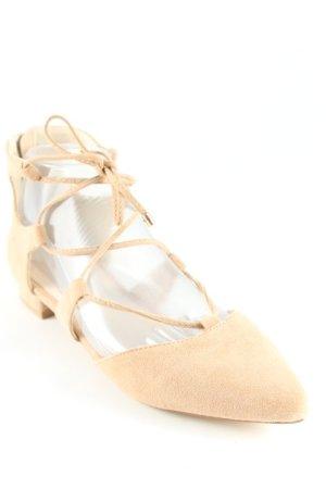 Hallhuber Ballerinas mit Spitze beige Street-Fashion-Look