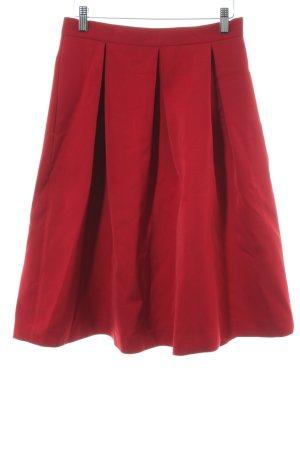 Hallhuber Jupe ballon rouge foncé élégant