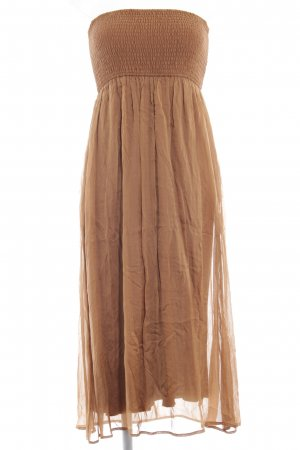 Hallhuber Bandeau Dress ocher beach look