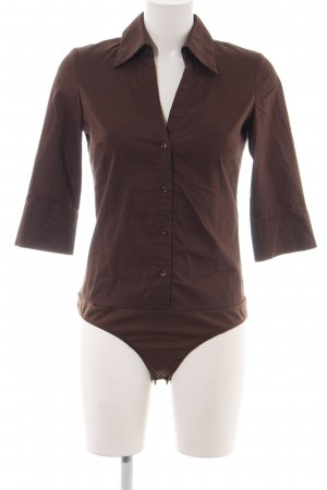 Hallhuber basic Bodysuit Blouse brown elegant