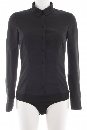 Hallhuber basic Blusa tipo body negro look casual