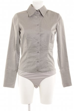 Hallhuber basic Bodysuit Blouse silver-colored business style