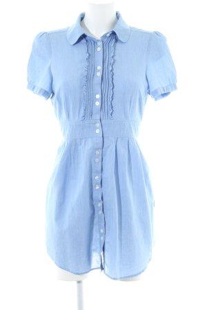 Hallhuber basic Blusenkleid blau Casual-Look