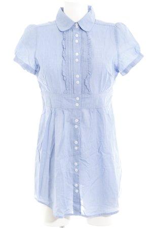 Hallhuber basic Blusenkleid kornblumenblau-weiß Business-Look