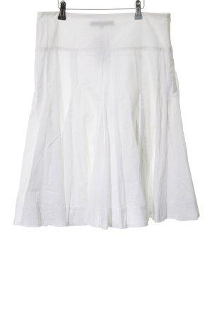 Hallhuber basic Jupe évasée blanc style classique