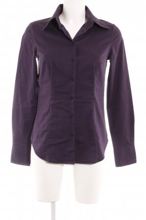 Hallhuber basic Hemd-Bluse dunkelviolett Business-Look