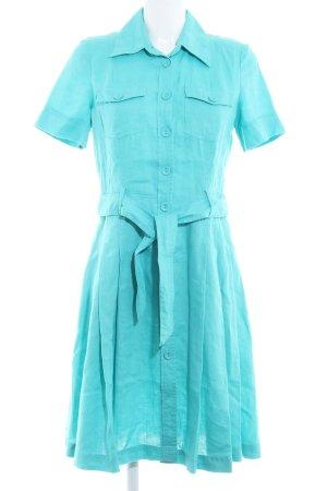 Hallhuber basic Robe chemise turquoise