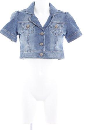Hallhuber basic Jeansjacke blau Casual-Look