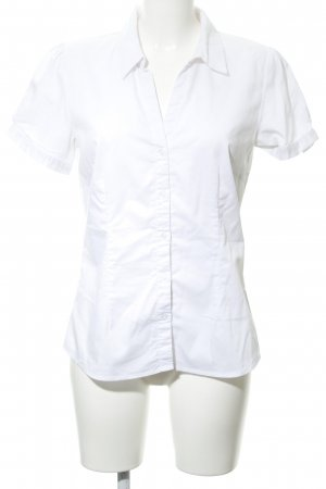 Hallhuber basic Kurzarmhemd weiß Business-Look